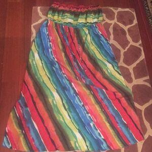 Rainbow stripped maxi dress Lane Bryant
